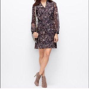 Ann Taylor Feather Pattern Dress
